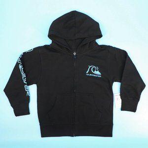 Quiksilver Boy's S/10 Black Zip Hoodie